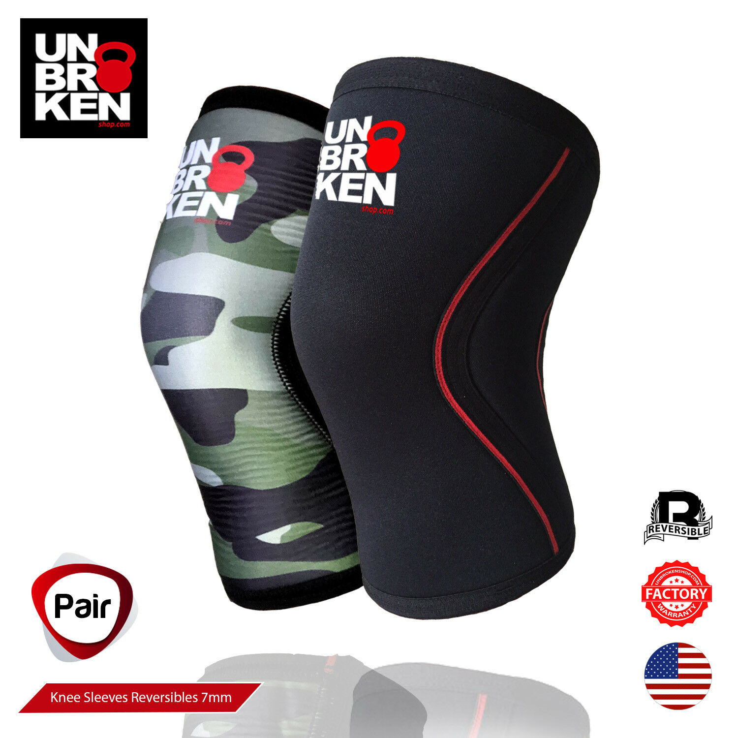 Crossfit knee sleeve kneecap 7mm support men women comp. Rehband size Pair