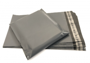 Strong-Large-Grey-Mailing-Bags-10-x-14-034-Poly-Postal-Postage-Post-Mail-Self-Seal