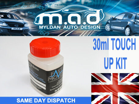 JAGUAR LAND ROVER 618 GMN WHITE GOLD 2 PAINT TOUCH UP KIT 30ML SCRATCH JLR