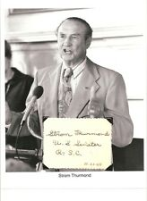 Strom Thurmond Autograph President Pro tempore Senate South Carolina #2