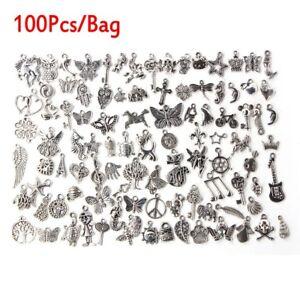 Wholesale-100-1000pcs-Bulk-Lots-Tibetan-Silver-Mix-Charm-Pendants-Jewelry-DIY