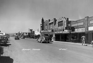 Alpine Texas Auto Sales >> Old Photo Alpine Texas Main Street Autos Ebay