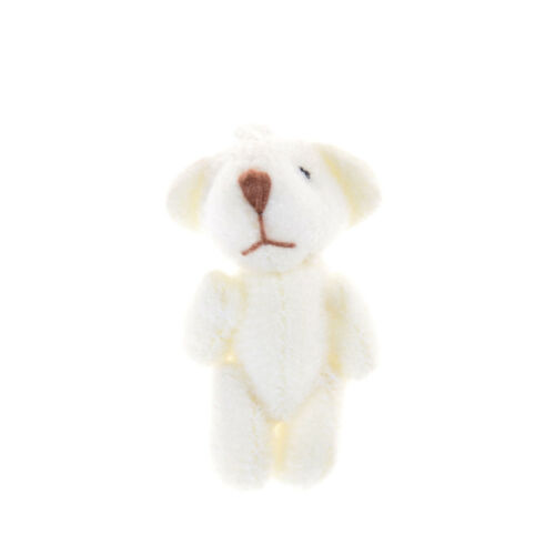 TO 1pcs 3.5CM Joint Bear Plush Stuffed Toy Doll Hair Accessories Plush toy doll