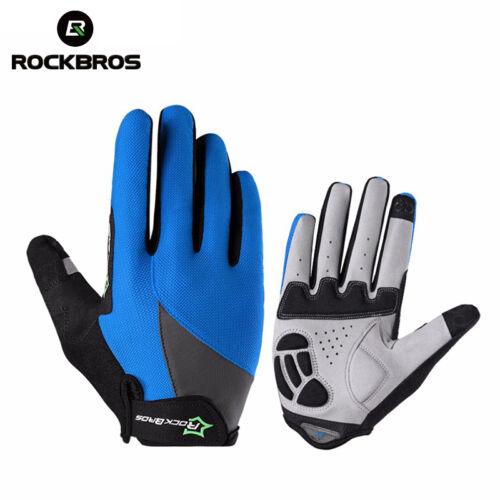 RockBros Spring and Autumn Long Full Finger Gloves Touch Screen Gloves Blue