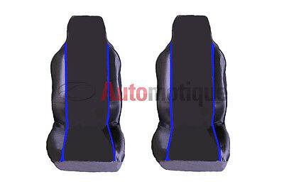BERLINGO MULTISPACE (08+)   PREMIUM FABRIC SEAT COVERS RACING BLUE PIPING 1+1