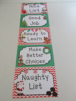 5 Laminated Christmas Themed Behavior Clip Chart. Preschool Classroom Management