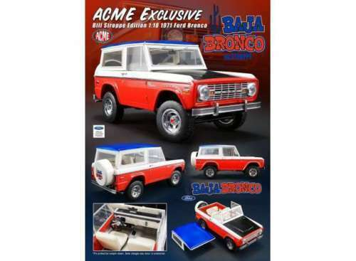 1 18 1971 FORD BAJA BRONCO STROPPE LIMITED EDITION 714 PIECES.