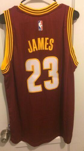 innovative design c106e 4fe57 Lebron James Cleveland Cavaliers NBA Jersey Men L HWC adidas #23 King Cavs  for sale online   eBay