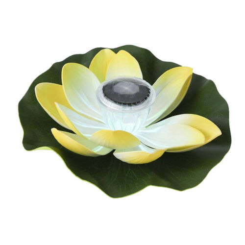 5 Arten Outdoor Solar Power 7 Farbe LED Blume Laterne Floating Lotus Licht