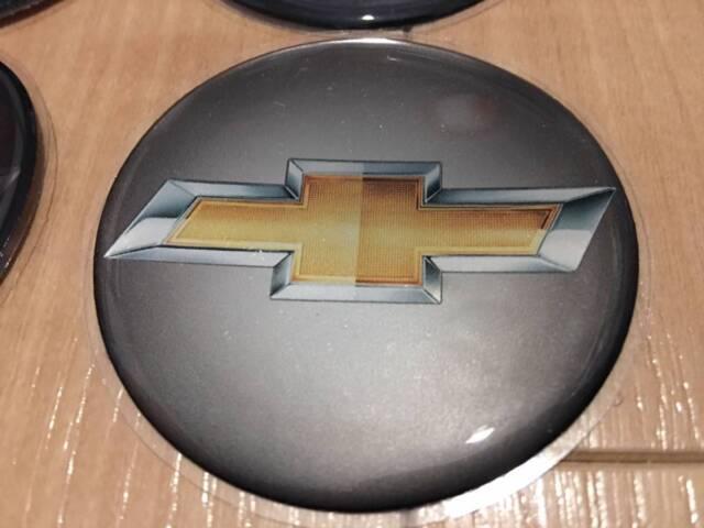 GM EMBLEM Wheels Logo Chevrolet Classic Muscle Circle Round 58mm 4pcs Golden