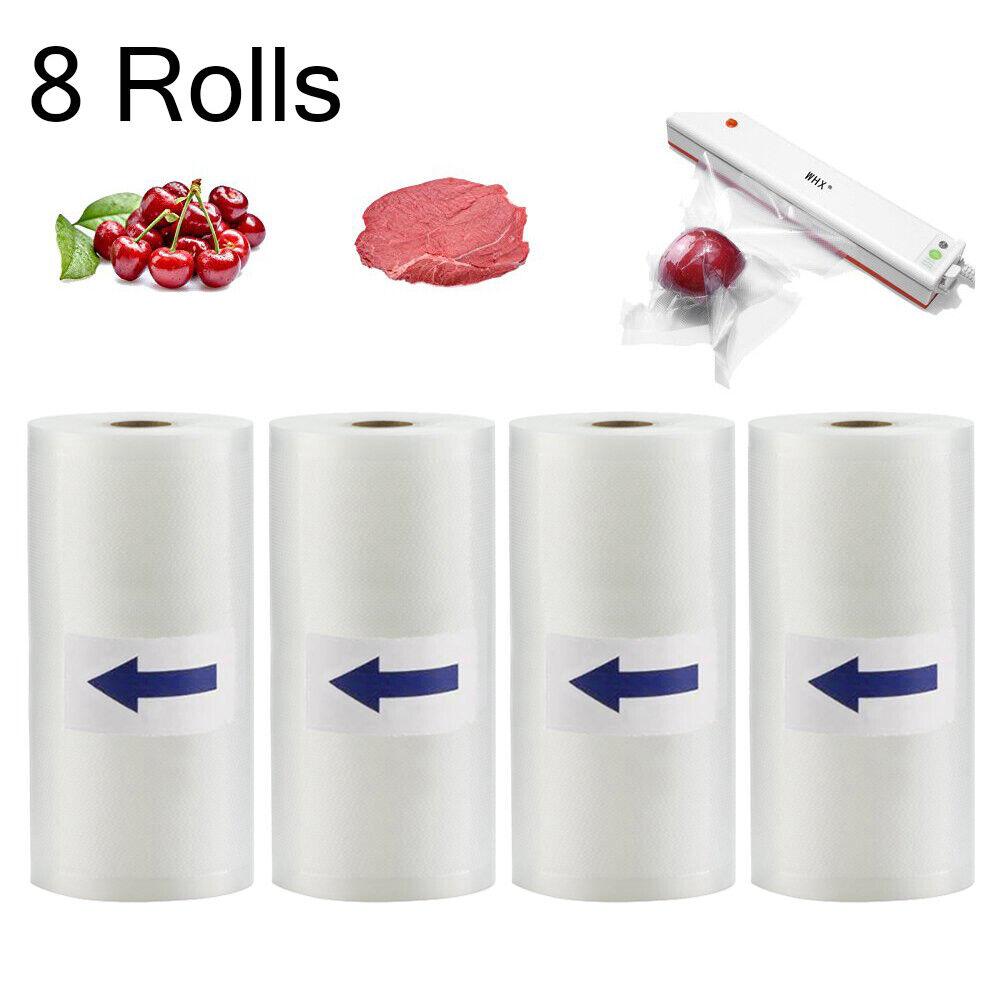 8 Rolls 8X50 Food Saver Vacuum Sealer Bags 4 mil FoodSaver Embossed Storage Bags