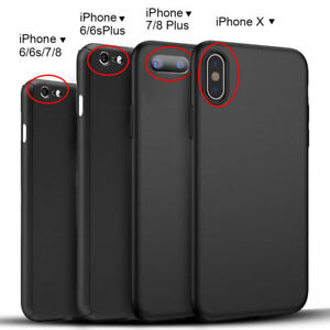 size 40 7dc05 b7e8d Details about Hybrid 360° Hard Case Screen Protector Full Cover Apple  iPhone 8 Plus in Black