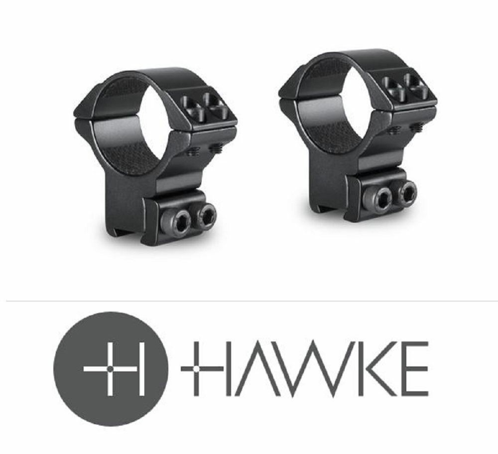 Hawke 2 Piece Double Screw 30mm 9-11mm High Match Scope Mounts