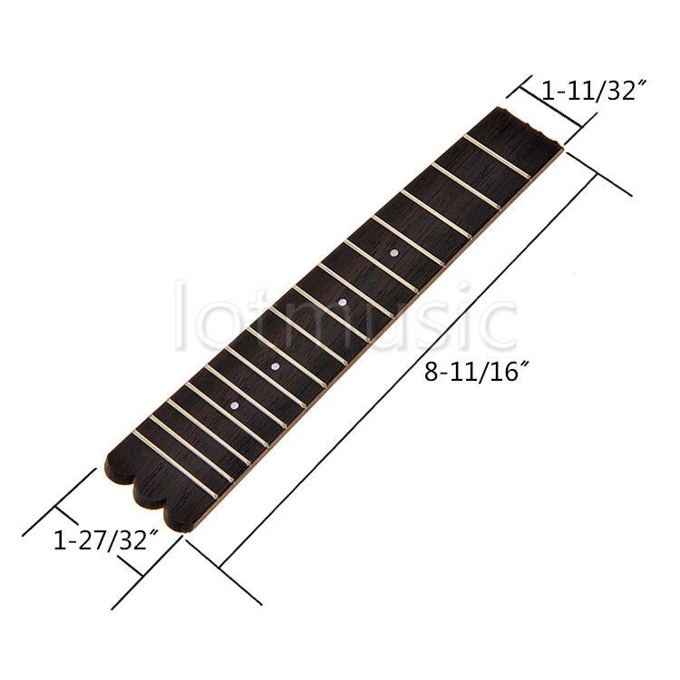 10 Pcs 21 in (approx. 53.34 53.34 53.34 cm) Ukelele Diapasón Diapasón de 15 trastes para Soprano Uke 557086