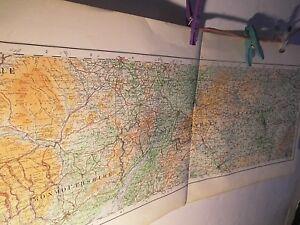 Dettagli su South Midlands-Gloucester a Bucks: RARE ALLUNGATI Ordnance MAP  1922,1/4