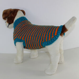 PRINTED INSTRUCTIONS - CHUNKY STRIPE GARTER STITCH DOG ...