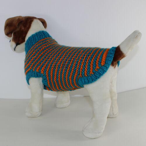 CHUNKY STRIPE GARTER STITCH DOG COAT KNITTING PATTERN PRINTED INSTRUCTIONS