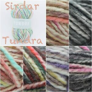 Sirdar-Tundra-Super-Chunky-Alpaca-Acrylic-Variegated-Knitting-Yarn-Wool-100g