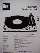 DUAL 1229 TURNTABLE SERVICE MANUAL 24 Pages