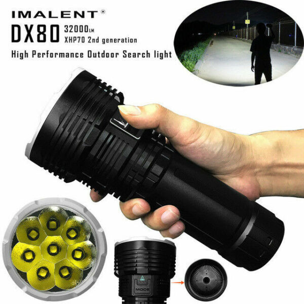IMALENT DX80 32000LM Super-Bright Outdoor Searching LED Flashlight Waterproof