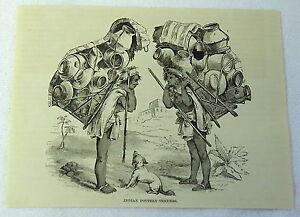 1883-magazine-engraving-INDIAN-POTTERY-VENDERS-Guatemala