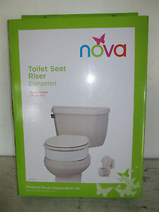 Nova Toilet Seat Riser Elongated 8341 R Raises 3 1 2