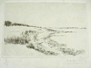 Salomon-Alfred-Boisecq-Atzradierung-Forte-Originell-I-X-Morbihan-einer-in-Union