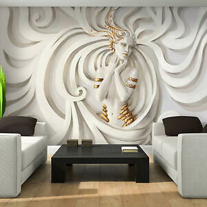 Photo Wallpaper 3D LOW RELIEF MEDUSA Wall Mural 3043VE eBay