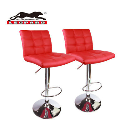 Sensational Leopard Square Back Bar Stools Adjustable Bar Stool With Back Red Set Of 2 6926742773085 Ebay Gmtry Best Dining Table And Chair Ideas Images Gmtryco