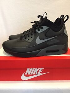 brand new 6be01 25206 Details about Nike Air Max 90 Ultra Mid Winter Black Grey UK Size 7 Brand  New In Box