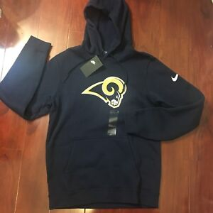 official photos 7ec24 14d51 Details about NEW NIKE LOS ANGELES RAMS NFL HOODIES NAVY FOOTBALL  881632-419 MEN SIZE SMALL S