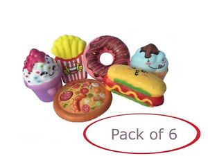 Soft-Kids-Toys-Squishies-Pack-6-Pcs-Squeezable-Snacks-Stress-Free-Squishy-Toy