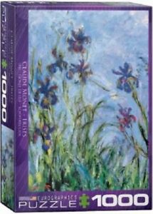 EG60002034 Eurographics Puzzle 1000 Piece Jigsaw - Irises / Claude Monet