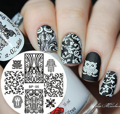 BORN PRETTY #05 Egypt Patterns Nail Art Stamping Template Image Plate