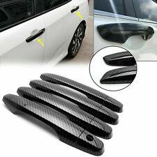 Carbon Fiber Style Door Handle Cover For Honda Civic 2012 2013 2014 2015 9th Gen Fits 2013 Honda Civic Si