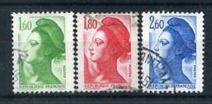 FRANCE - 1982, timbres 2219/2221, Liberté, oblitérés