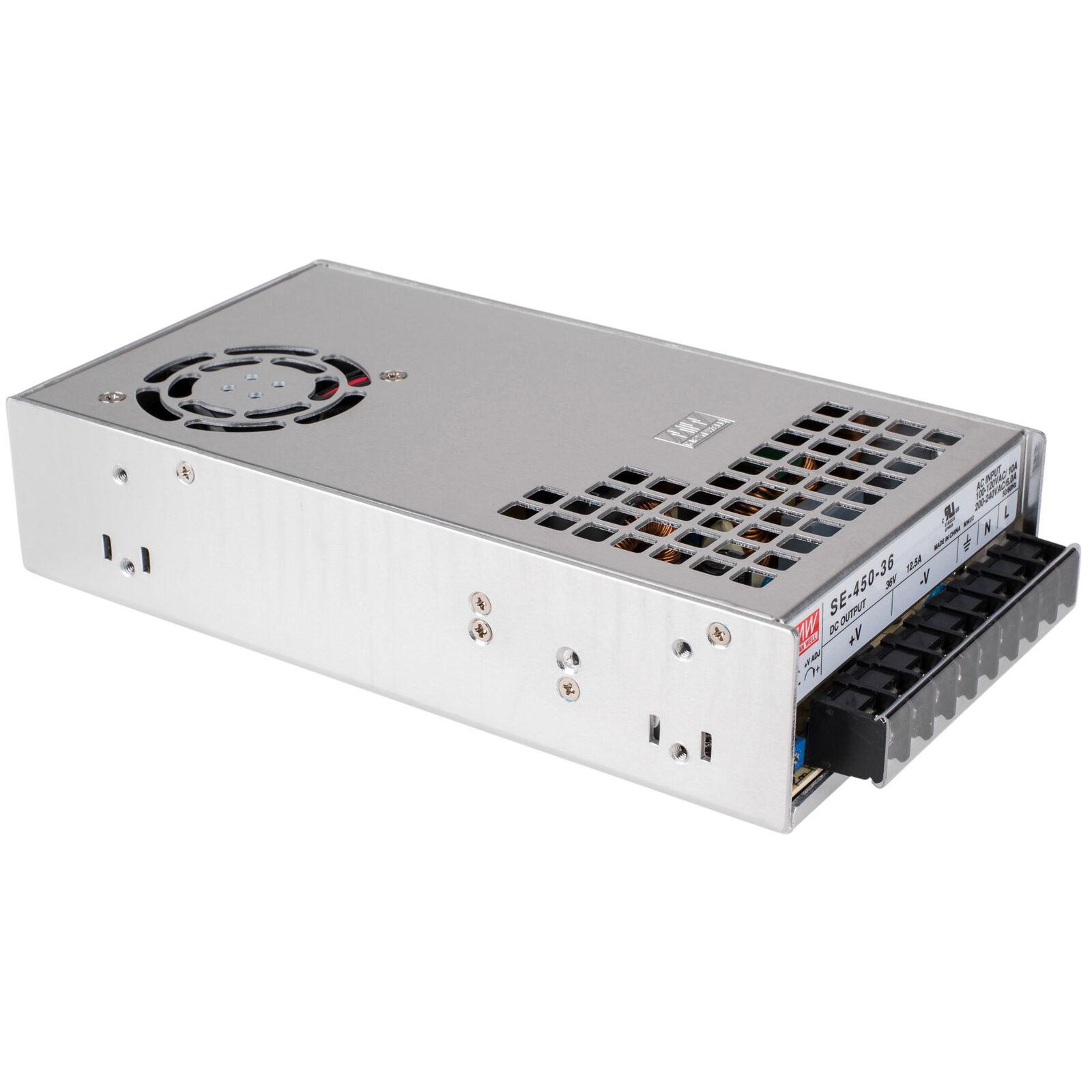 Bien MW SE-450-36 36 V 12.5 A Mean Mean Mean 450 W AC fuente de alimentación de conmutación de taza profunda  venta