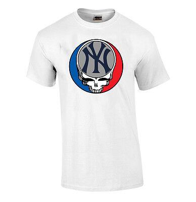 NEW GRATEFUL DEAD NEW YORK METS SHIRT STEAL YOUR FACE DEADHEAD BASEBALL TEE NY