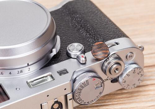 1X Wooden Wood Camera Shutter Release Button For Fuji XT2//XT10//XT20