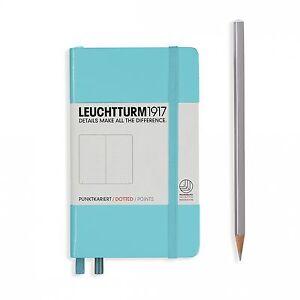 Notizbuch-Pocket-A6-Hardcover-185-nummerierte-Seiten-hellblau-dotted