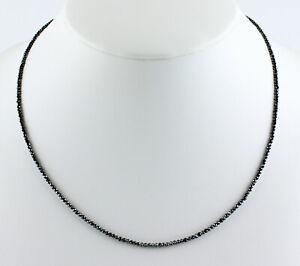Diamant-Kette-Edelsteinkette-Schwarze-Facettierte-Top-Qualitaet-Collier-Edel-45cm