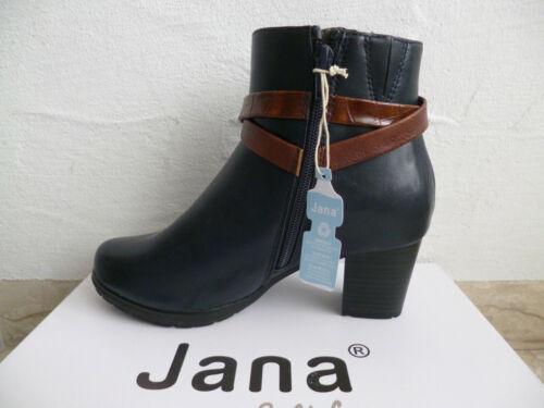 Jana Softline Damen Stiefelette Stiefeletten Stiefel Boots blau Weite H NEU!