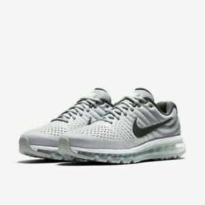Details about Nike Air Max 2017 Running Shoes White Dark Grey Wolf Gray 849559 101 Men's NEW