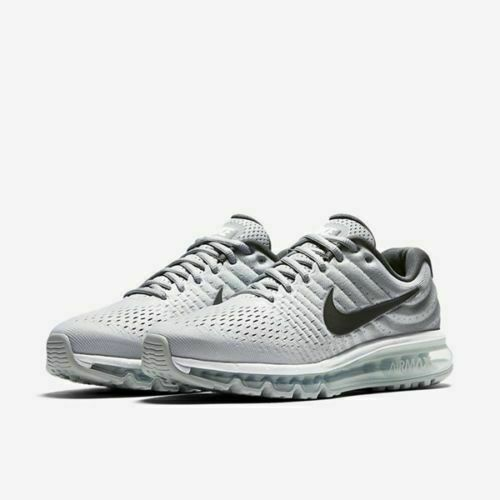 Nike Air Max 2017 Running Shoes White Dark Grey Wolf Gray 849559 101 Men's NEW