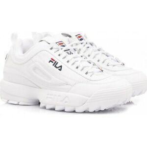 Dettagli su Scarpe da bambina Fila Disruptor 2 fw02945 111 bianco sneakers nuovo Sneakers