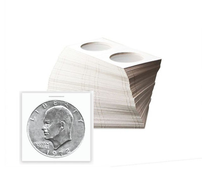 BCW Large Dollar 38.5mm Paper Flips 2x2 Coin Holders Archival Safe 100