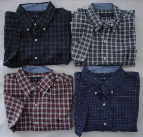 NEW Ralph Lauren Men/'s SS Casual Button Down Plaid Cotton Shirt Sz S M L XL 2XL