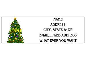CHRISTMAS X-MAS TREE ADDRESS LABELS COOL!! #1