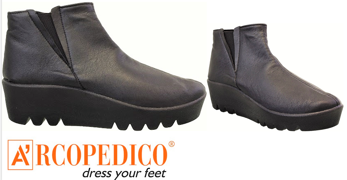 Arcopedico shoes Adele comfort wedge ankle boots