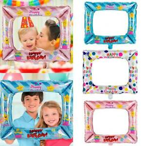 3pcs-Kid-Girl-Birthday-Party-Selfie-Inflatable-Foil-Photo-Frame-Photo-Booth-Prop